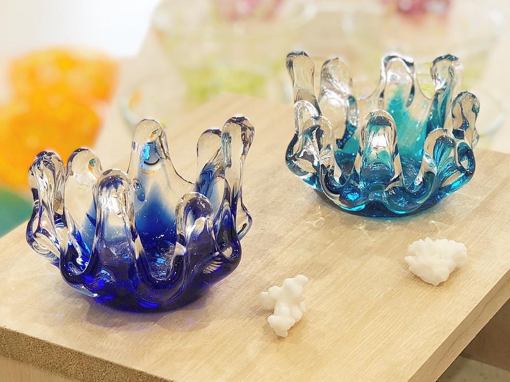 琉球ガラス村 シャコ貝