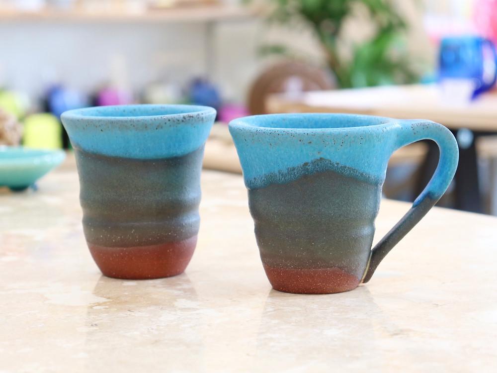 うるま陶器 newカップ 宮古島 沖縄 かわいい 人気 おすすめ 通販 琉球ガラス やちむん