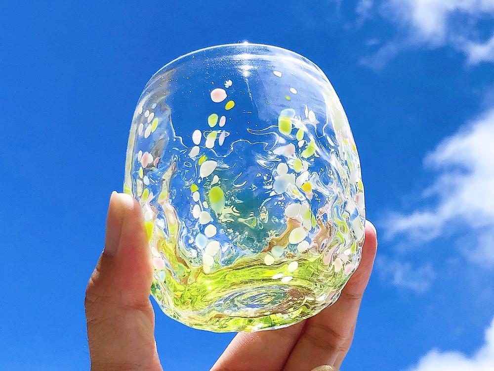 琉球ガラス 花波グラス 可愛い 宮古島