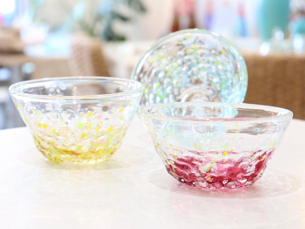琉球ガラス 花波小鉢 琉球ガラス やちむん 人気 かわいい おすすめ 沖縄 宮古島 通販 かっこいい