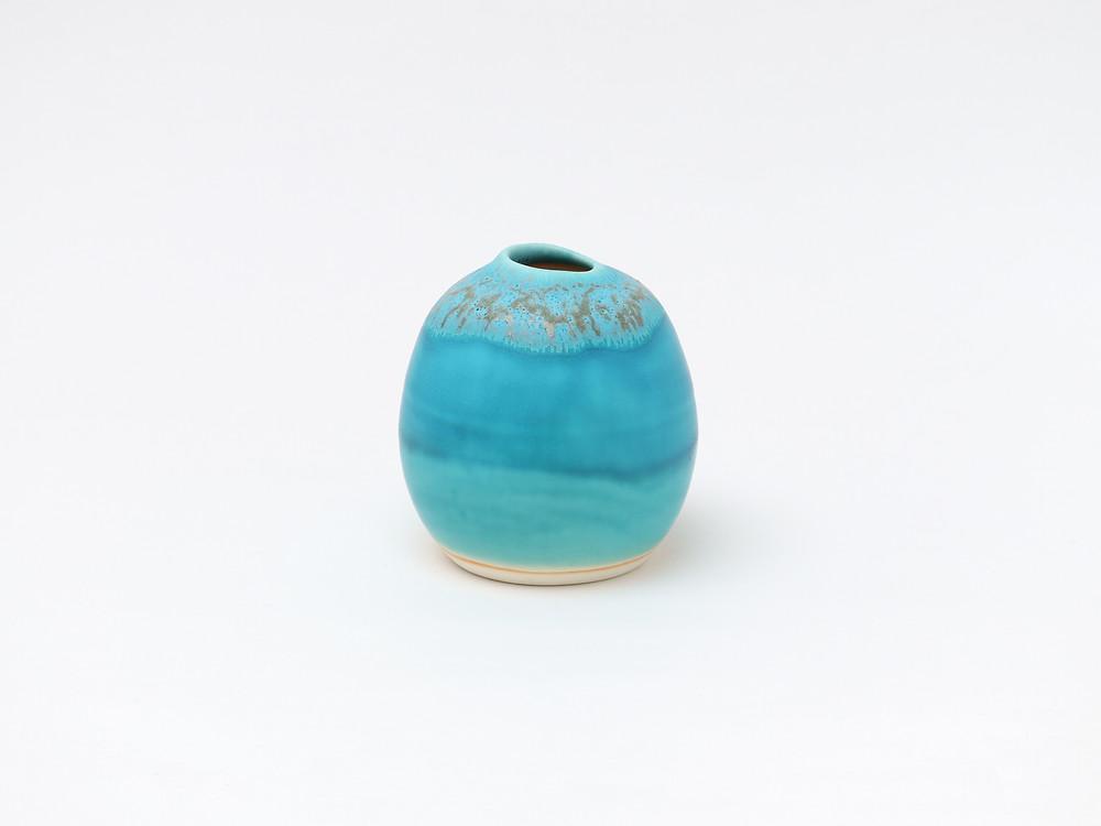うるま陶器 海の卵(花器) 宮古島 沖縄 かわいい 人気 おすすめ 通販 琉球ガラス やちむん