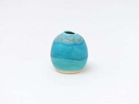 うるま陶器 花器 海の卵(花器)