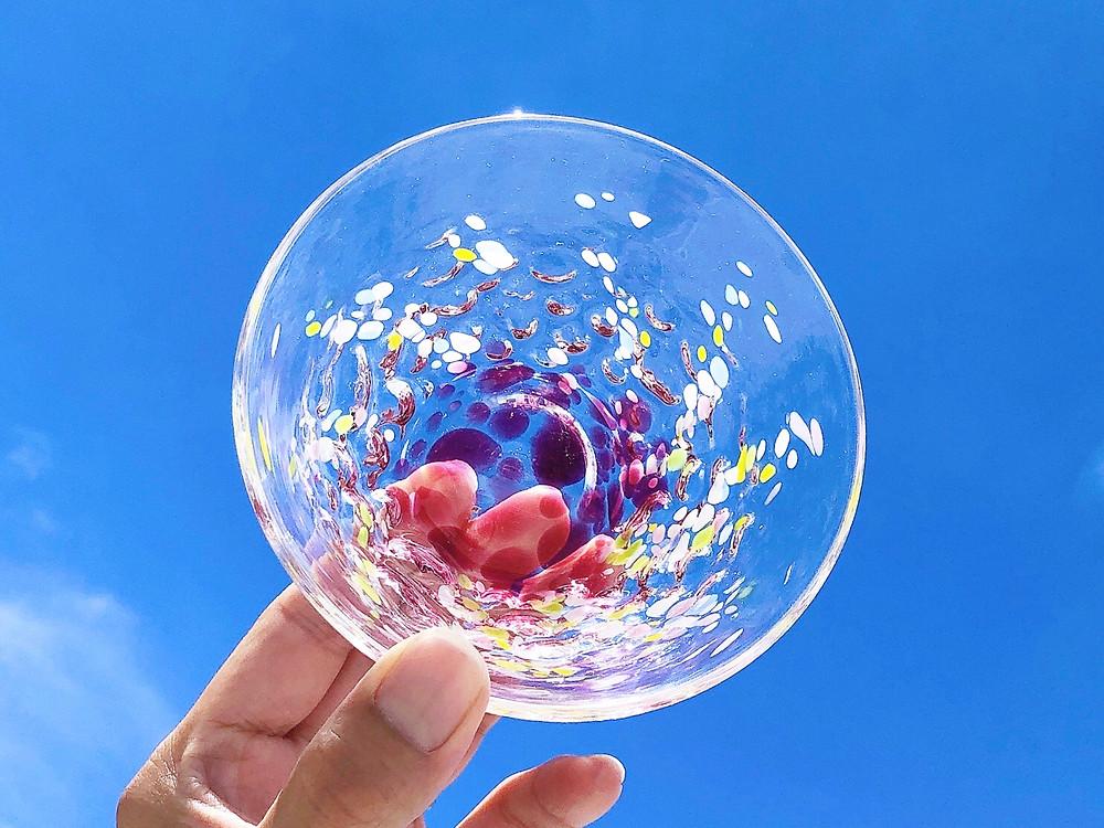 琉球ガラス 花波小鉢 可愛い 宮古島