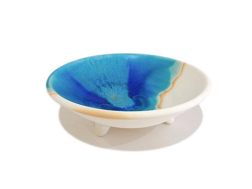うるま陶器 三つ足皿