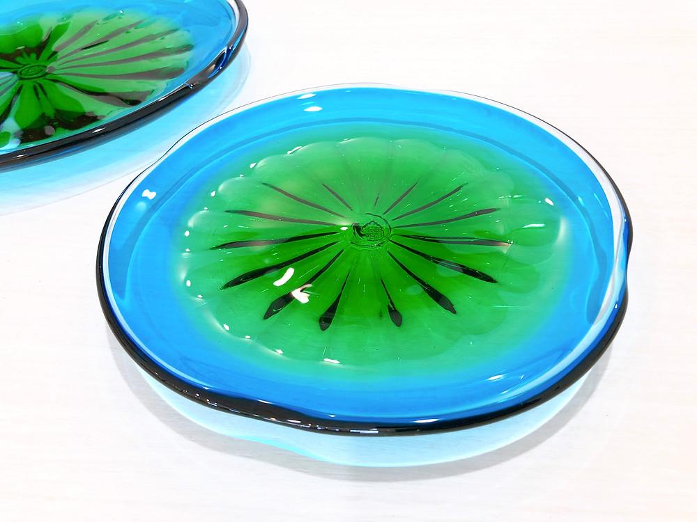 琉球ガラス 珊瑚の海 緑皿 人気 可愛い 値段 通販 沖縄 宮古島