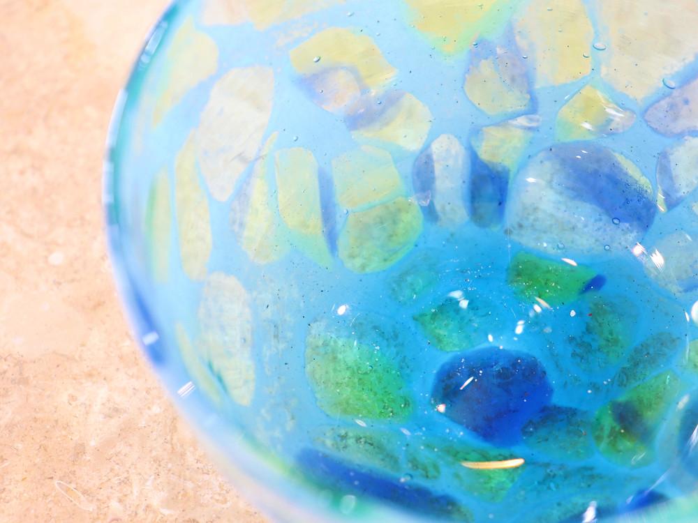 琉球ガラスてぃだ工房 海の揺らめき  宮古島 琉球ガラス やちむん 人気 おすすめ かわいい