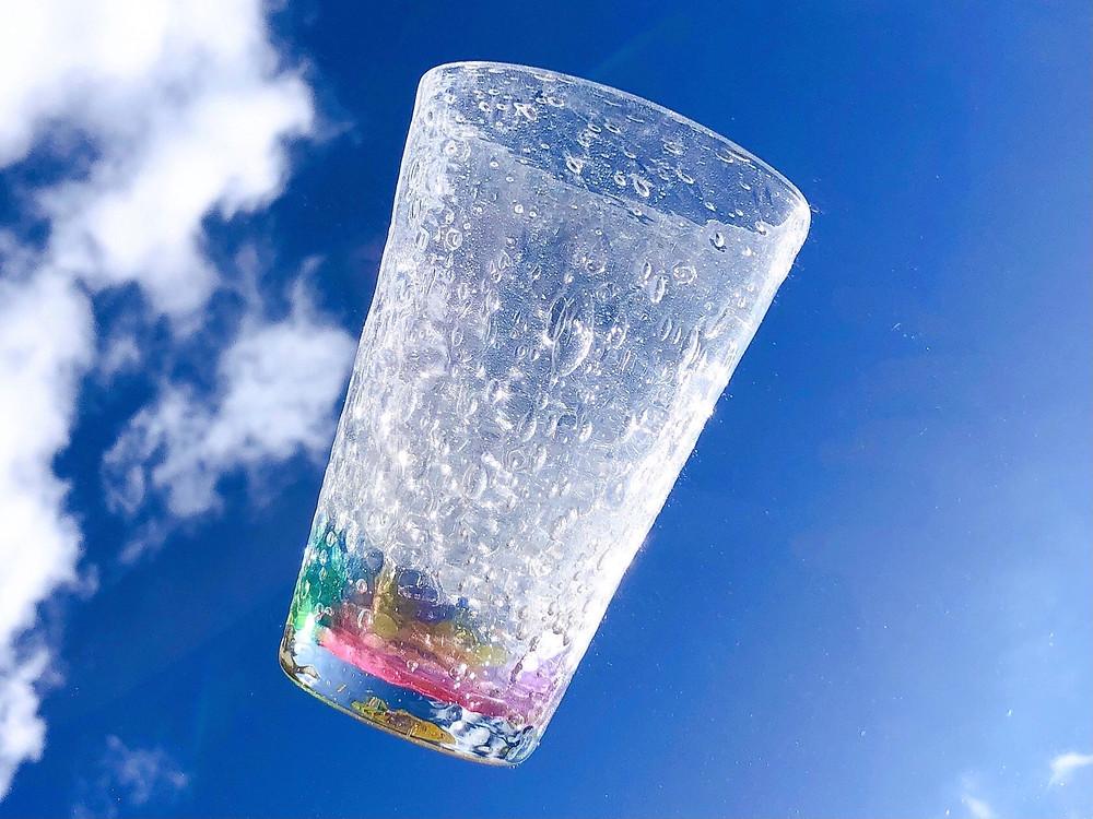 琉球ガラス工房雫 オーロラグラス  宮古島 沖縄 かわいい 人気 おすすめ 通販 琉球ガラス やちむん