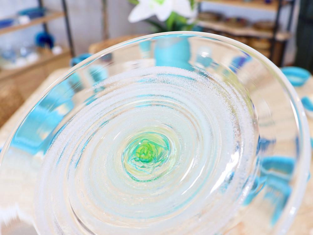 琉球ガラス 匠工房 渦潮小皿 琉球ガラス やちむん 沖縄県宮古島 可愛い オススメ 通販 人気