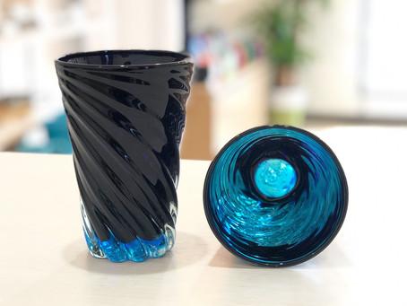 琉球ガラス 青の洞窟グラス (大)再入荷致しました