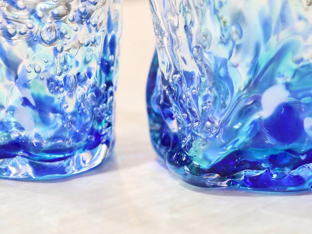 琉球ガラス 煌ブルーフォール 琉球ガラス やちむん 人気 かわいい おすすめ 沖縄 宮古島 通販 かっこいい おしゃれ