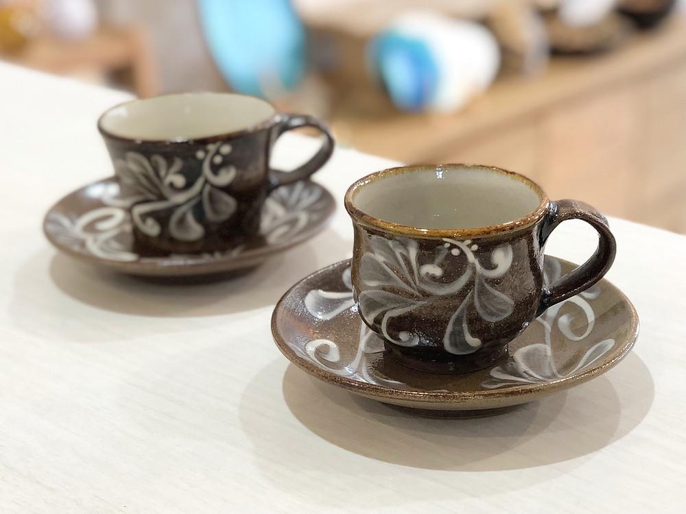 陶眞窯 カップセット 琉球ガラス やちむん 人気 かわいい 通販 宮古島 沖縄