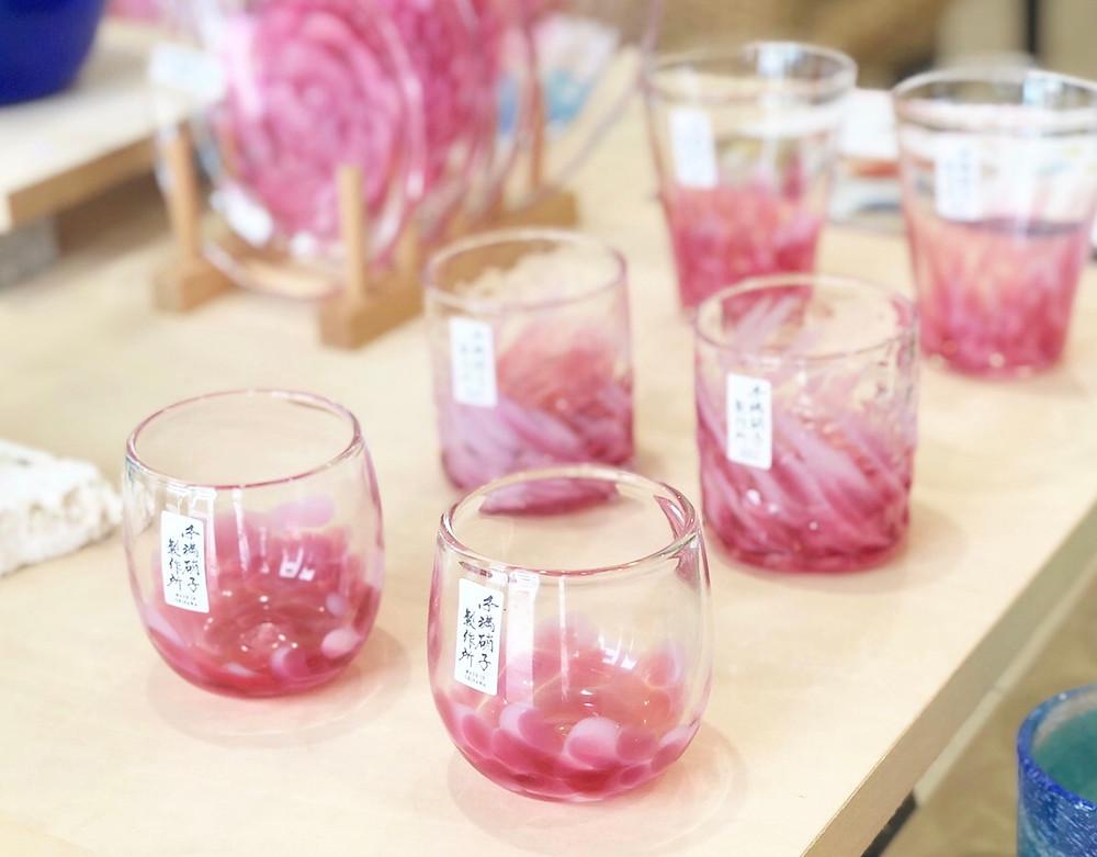 琉球ガラス 糸満ガラス製作所 桜花シリーズ