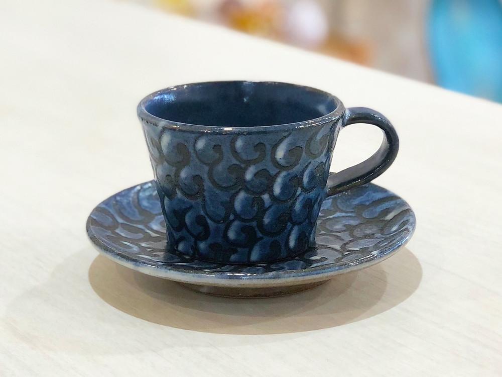 陶眞窯 藍彩 カップセット 琉球ガラス やちむん 人気 かわいい 通販 宮古島 沖縄
