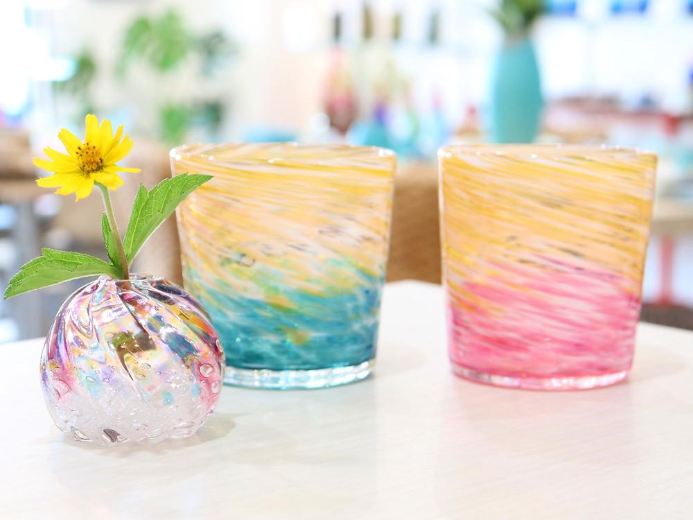琉球ガラス工房 雫 宮古島 琉球ガラス やちむん 人気 おすすめ かわいい