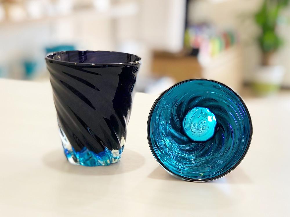 琉球ガラス 青の洞窟グラス 人気 可愛い 沖縄 宮古島