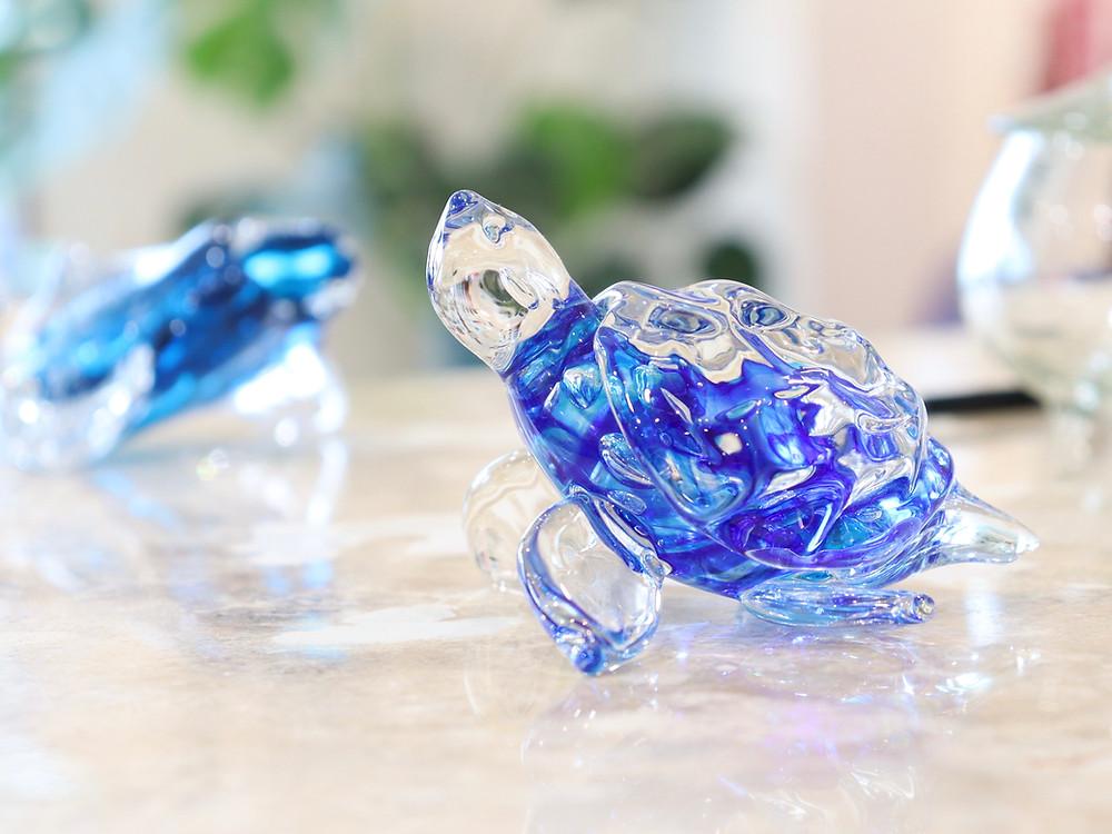 琉球ガラス 友利 龍 海亀 宮古島 琉球ガラス やちむん 人気 おすすめ かわいい
