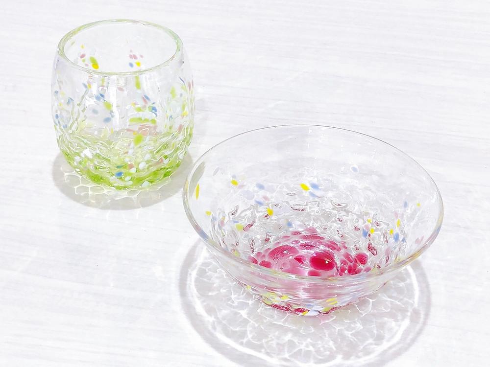 琉球ガラス 花波グラス 小鉢 可愛い 宮古島