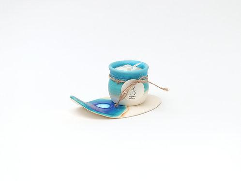 うるま陶器 アロマキャンドル (ラベンダー)