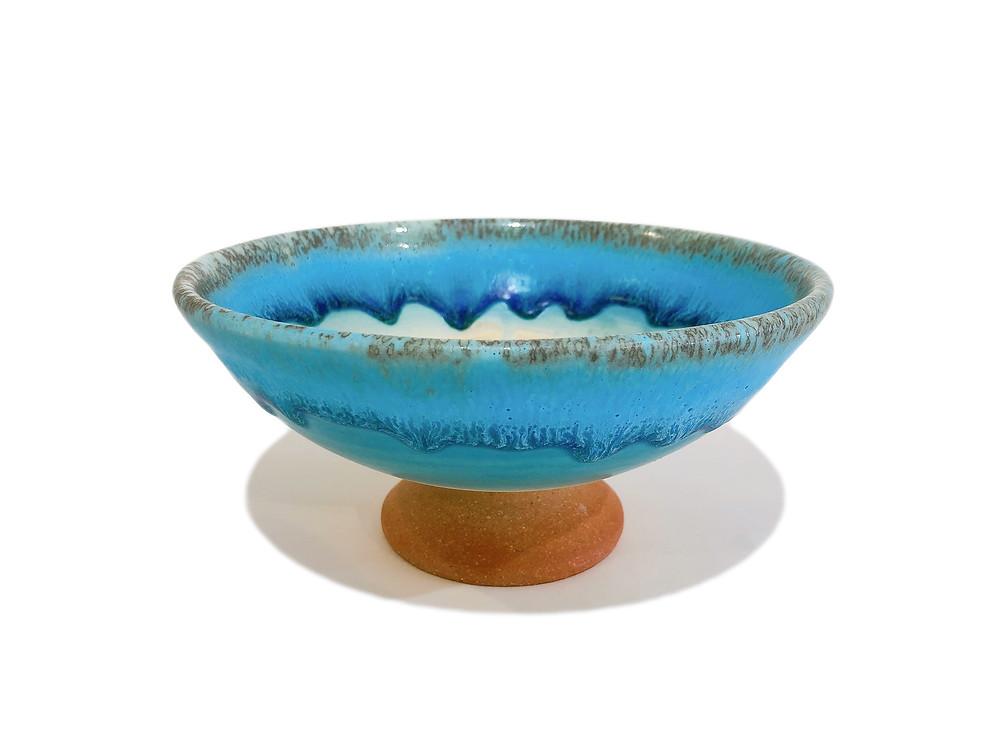 うるま陶器 脚付皿 通販 値段 やちむん 琉球ガラス