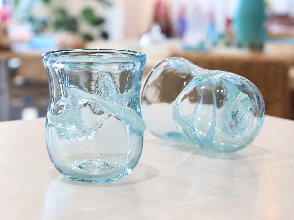 琉球ガラス 宙吹ガラス工房 虹 透グラス 宮古島 琉球ガラス やちむん 人気 おすすめ かわいい