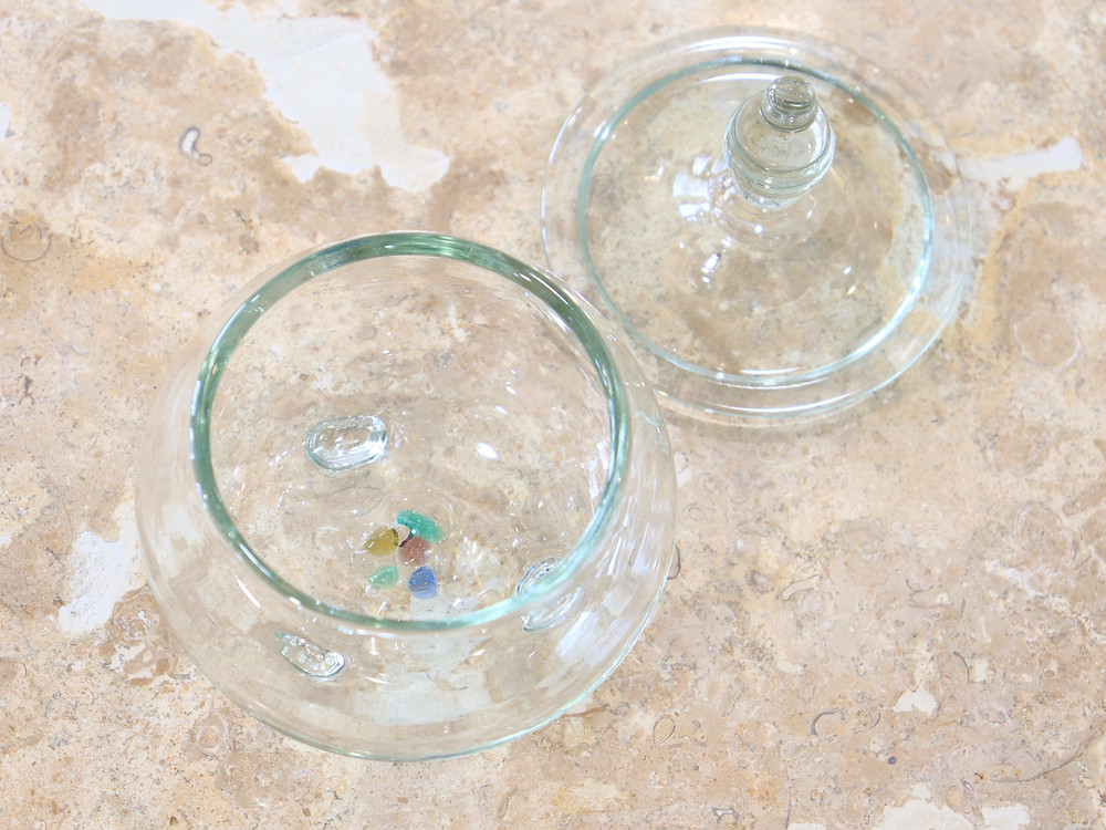 琉球ガラス glass32 黒糖入れ 琉球ガラス やちむん 可愛い 人気 おしゃれ 通販 宮古島 おすすめ