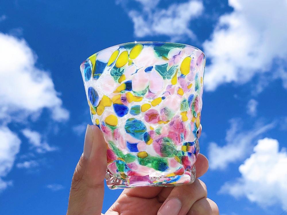 琉球ガラス 源河源吉  パレットグラス 可愛い 宮古島