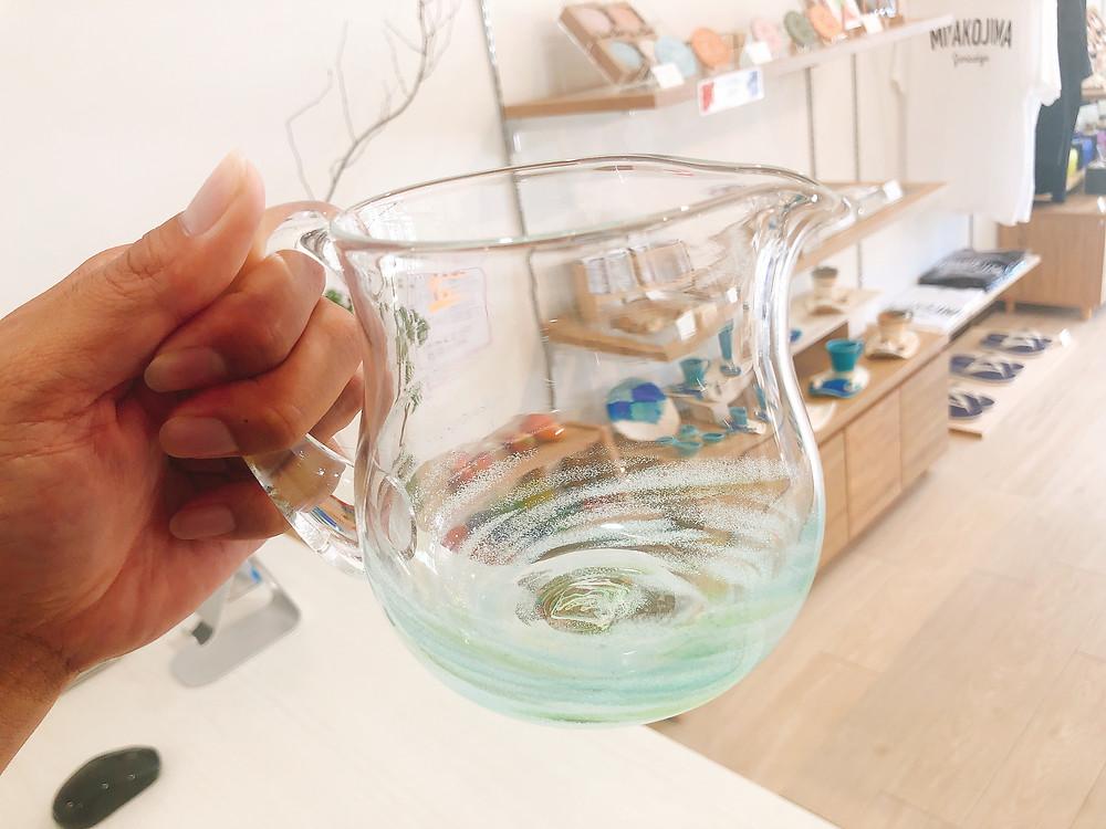 琉球ガラス 匠工房 水差し 可愛い 宮古島