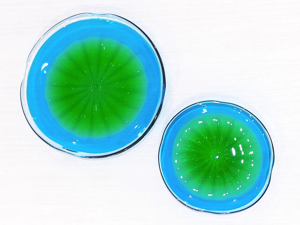 琉球ガラス 珊瑚の海 緑皿 人気 可愛い 沖縄 宮古島