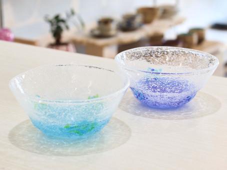 琉球ガラス 泡花見小鉢入荷