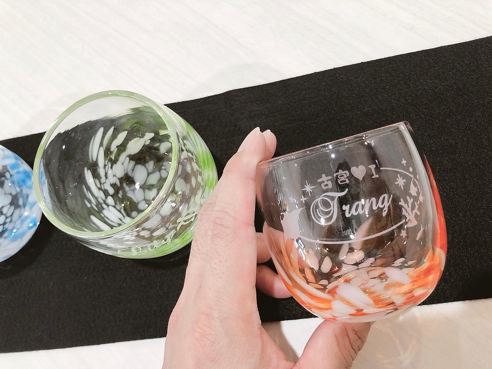 琉球ガラス名入れ体験