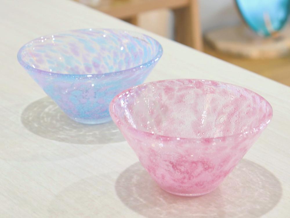 琉球ガラス 水中花小鉢 琉球ガラス やちむん 人気 かわいい 通販 宮古島 沖縄