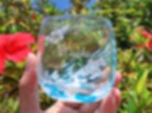 宮古島旅行にオススメ 琉球ガラス名入れ体験 完成