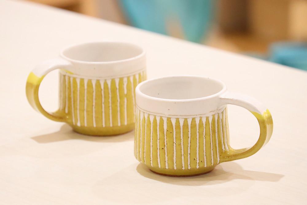 眞正陶房 マカロンショートマグカップ  からし 人気 かわいい 通販 おすすめ