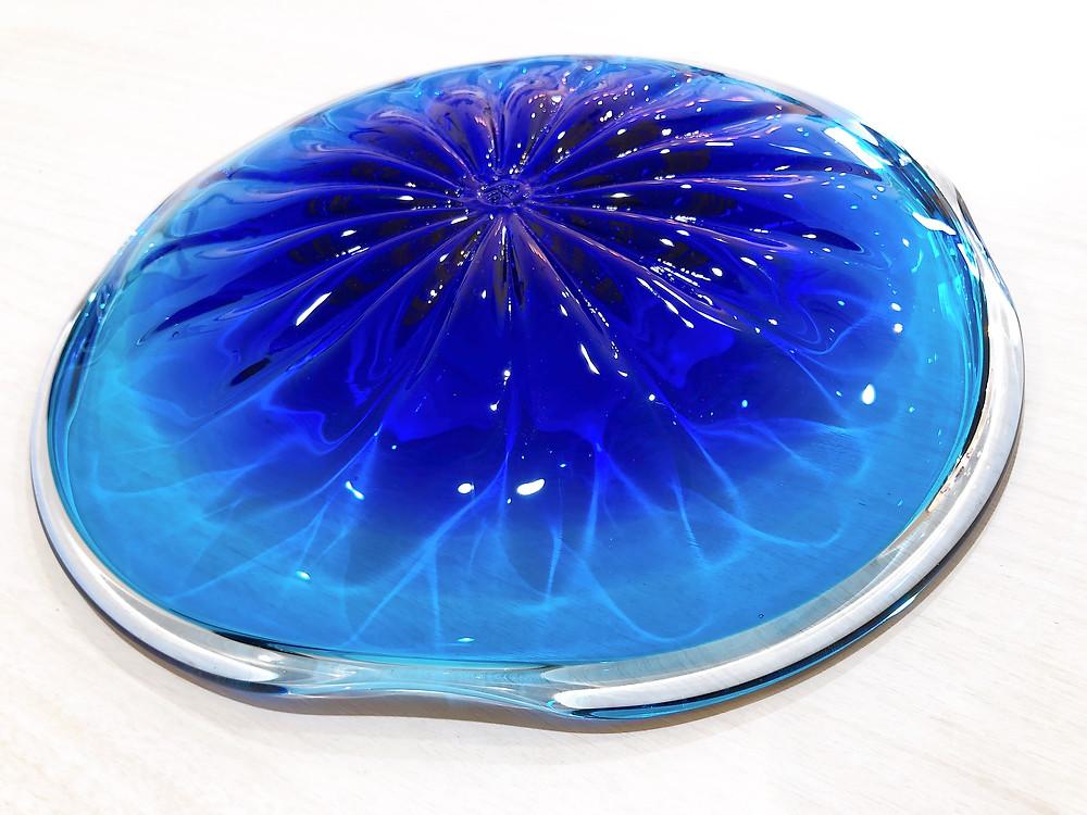 琉球ガラス 珊瑚の海 青皿 人気 可愛い 沖縄 宮古島