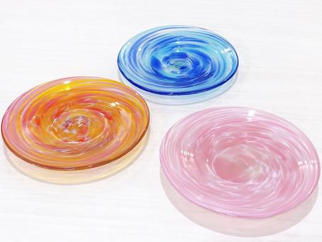 琉球ガラス 美ら海平皿入荷致しました