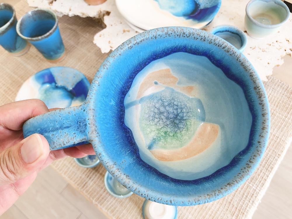 うるま陶器 スープカップ 底面
