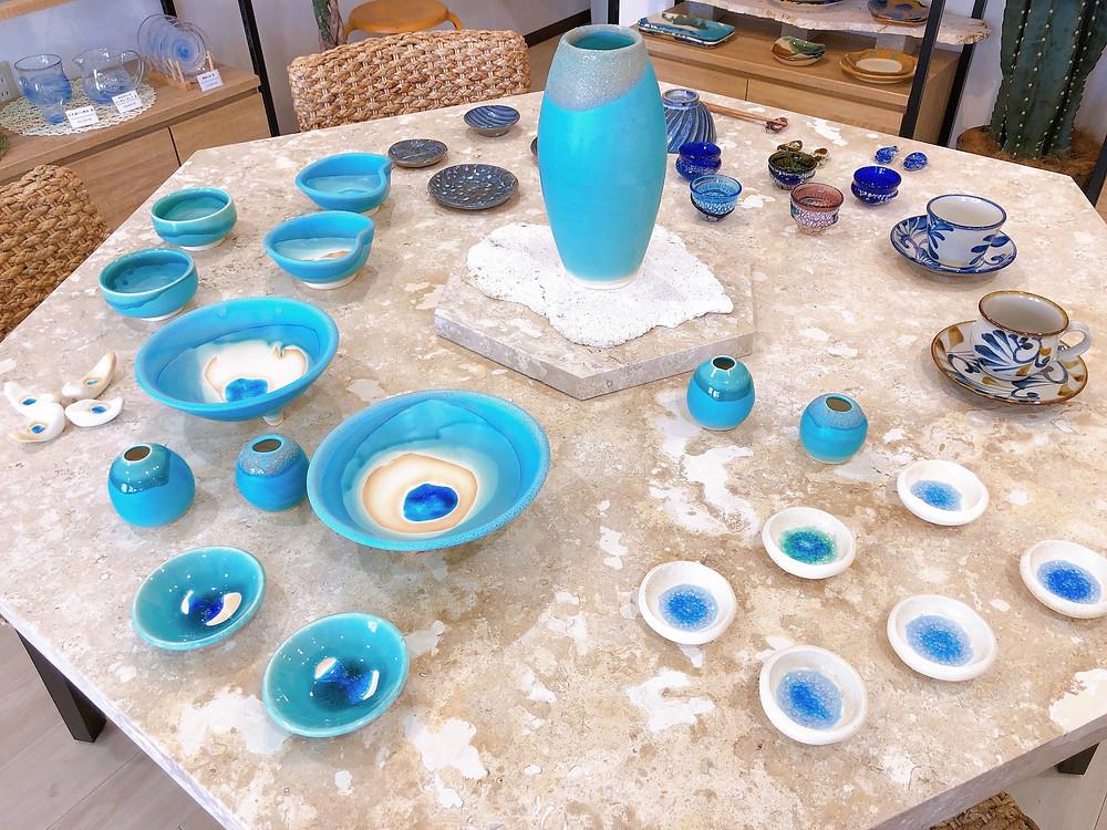 うるま陶器 宮古島 沖縄 かわいい 人気 おすすめ 通販 琉球ガラス やちむん