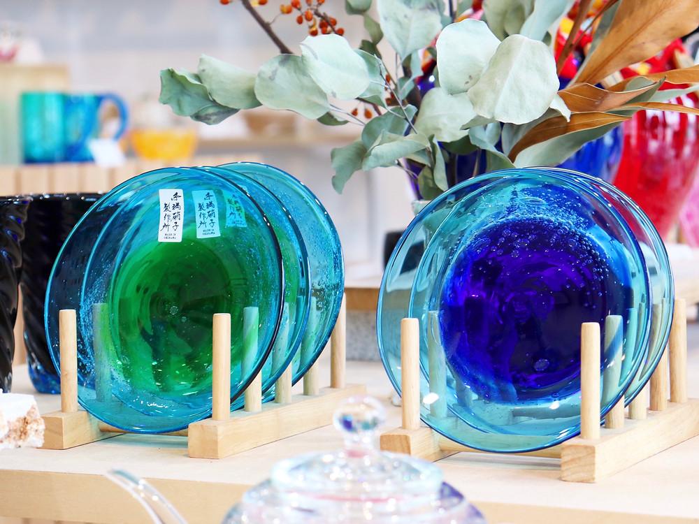 琉球硝子泡盛皿 琉球ガラス 沖縄 宮古島 やちむん 人気 かわいい おすすめ 通販