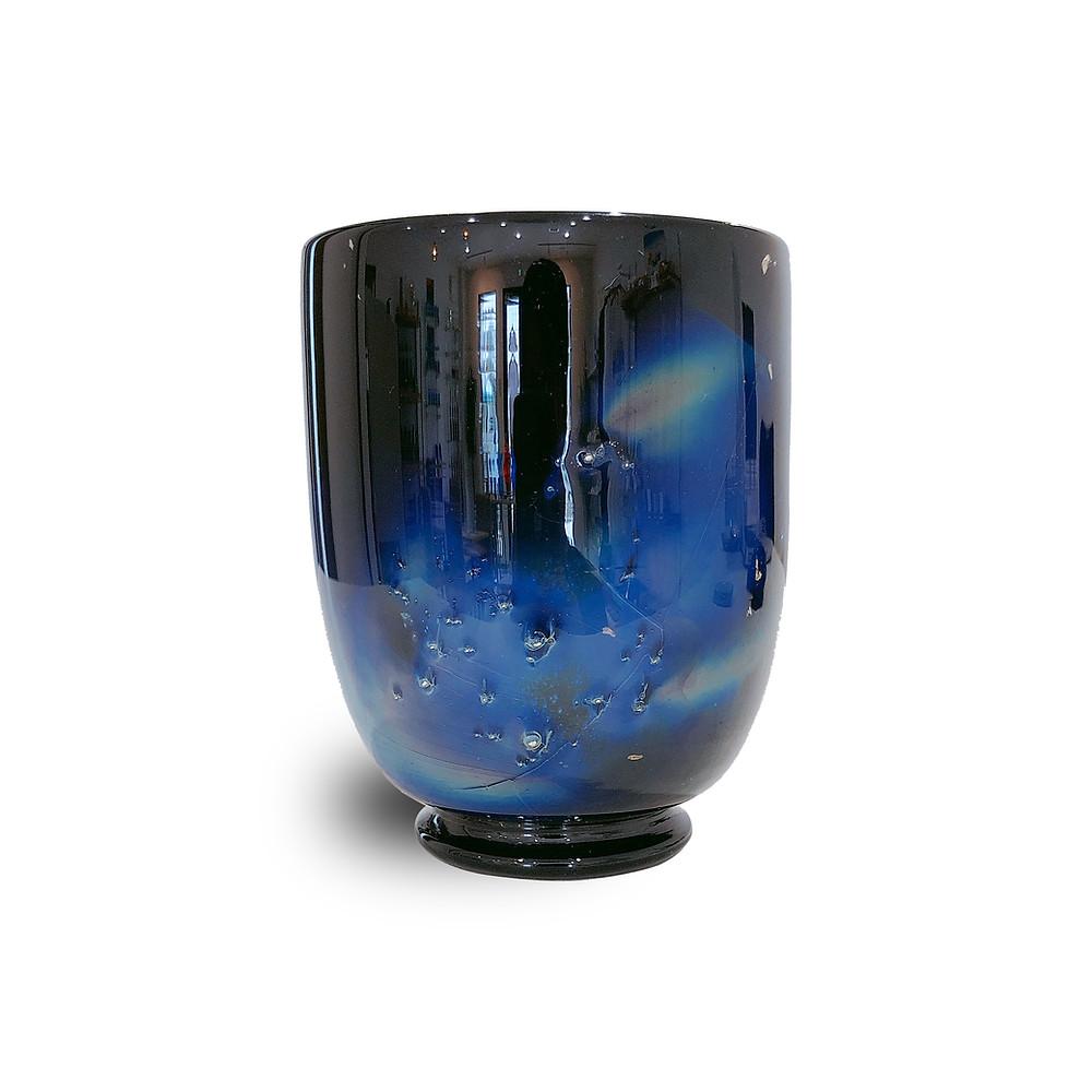 琉球ガラス 銀河 台付きグラス