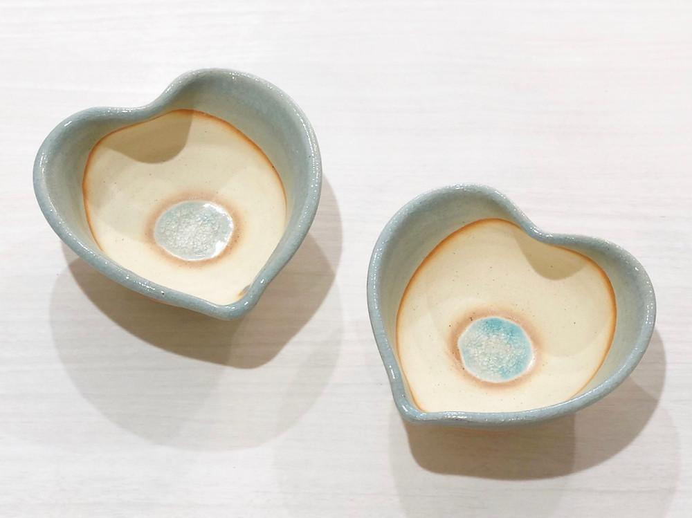 うるま陶器 ハート皿 宮古島 やちむん  値段 通販