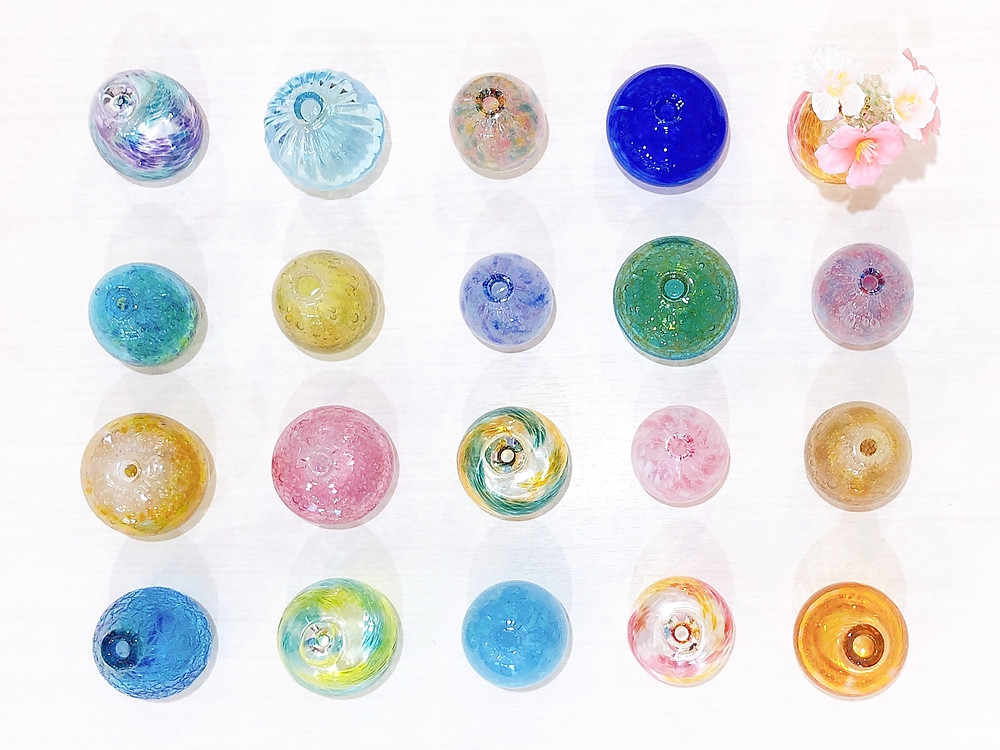 琉球ガラス工房 雫 一輪挿し  人気 かわいい 通販 おすすめ