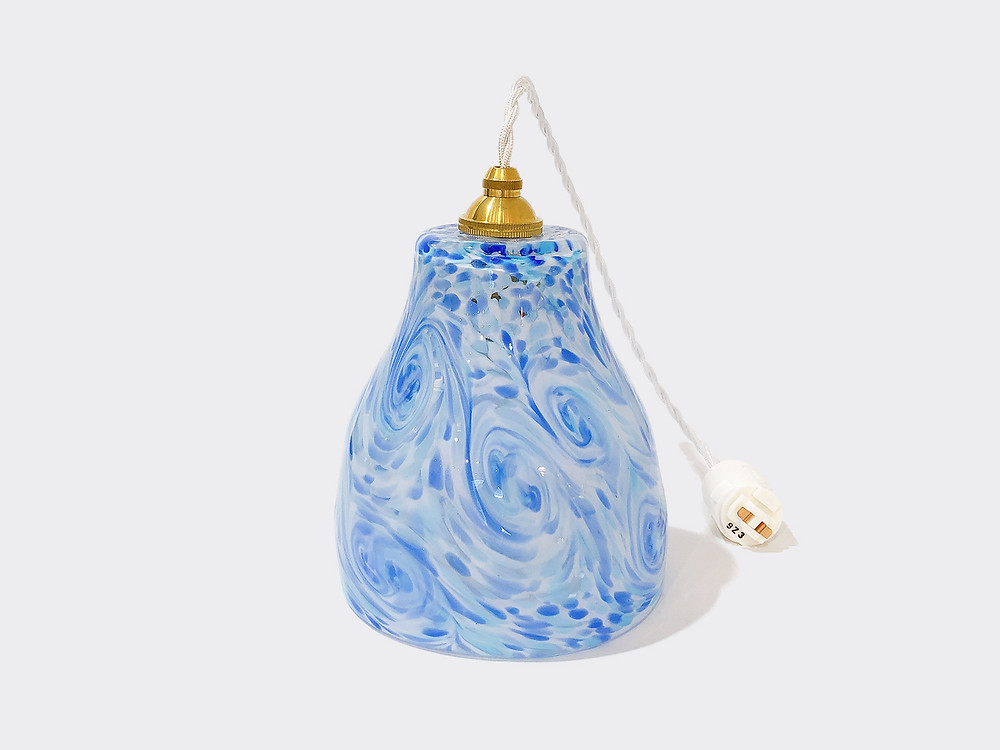 琉球ガラスペンダントライト (ランプシェード) ブルー