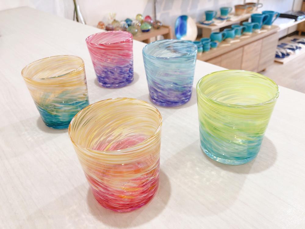 琉球ガラス工房雫 ロックグラス 宮古島 人気 かわいい