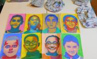 Autoportrait en différentes étapes
