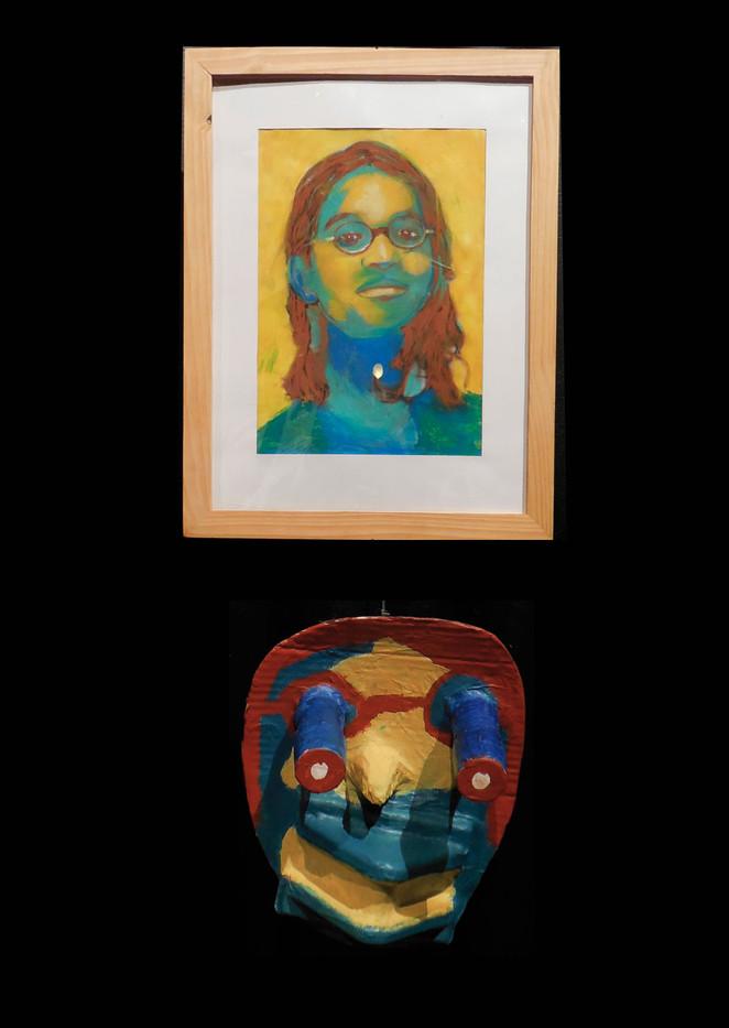 Auto-portrait - du dessin à la 3 dimension