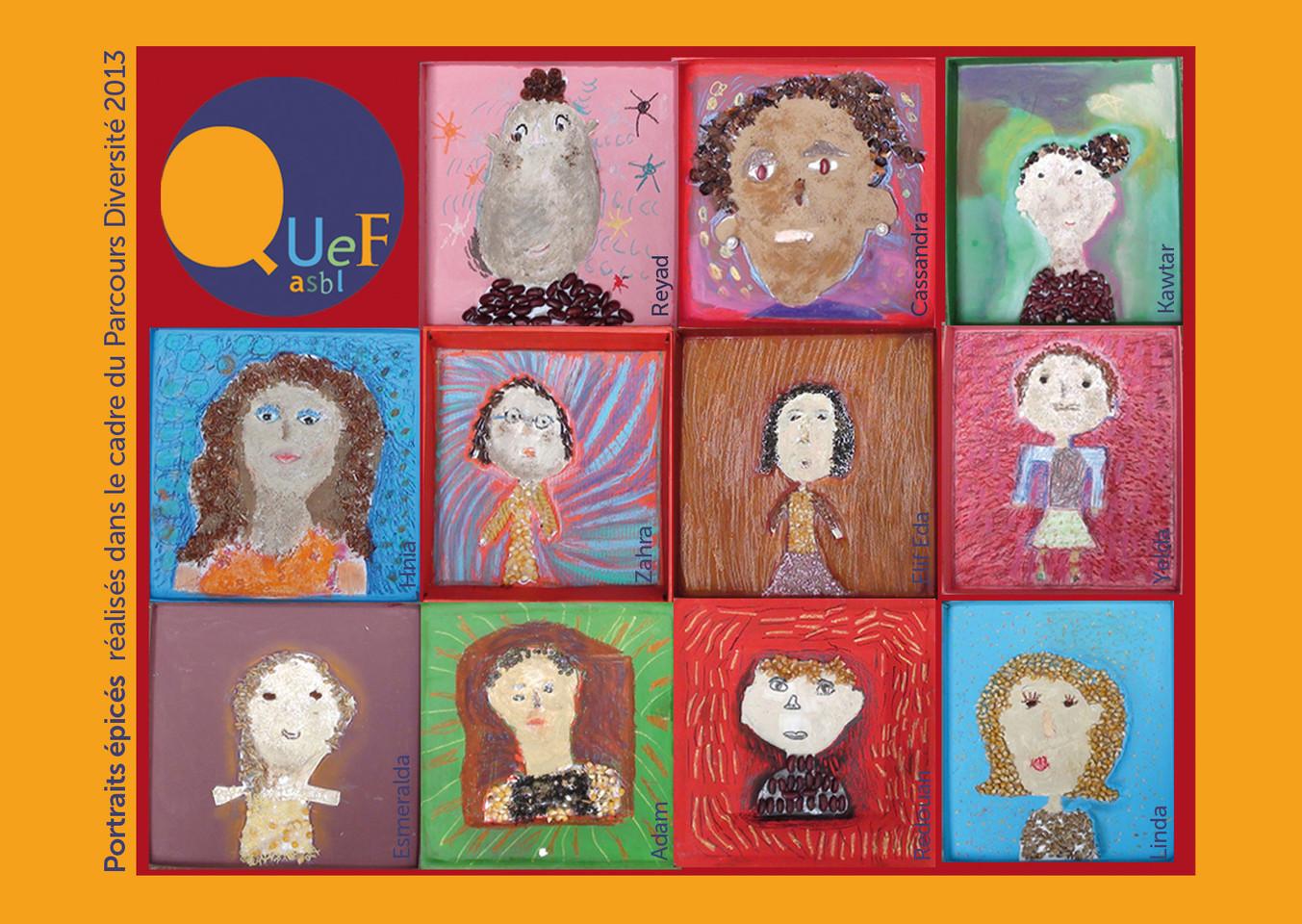 Communication Asbl Quef - mise en page dessins enfants
