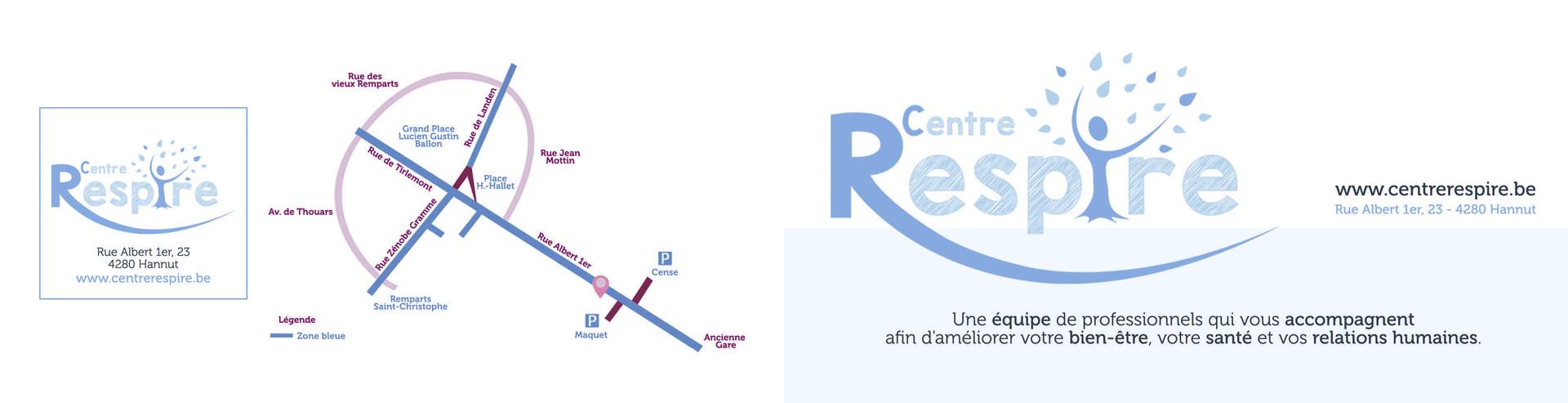 Centre Respire - mise en page dépliant