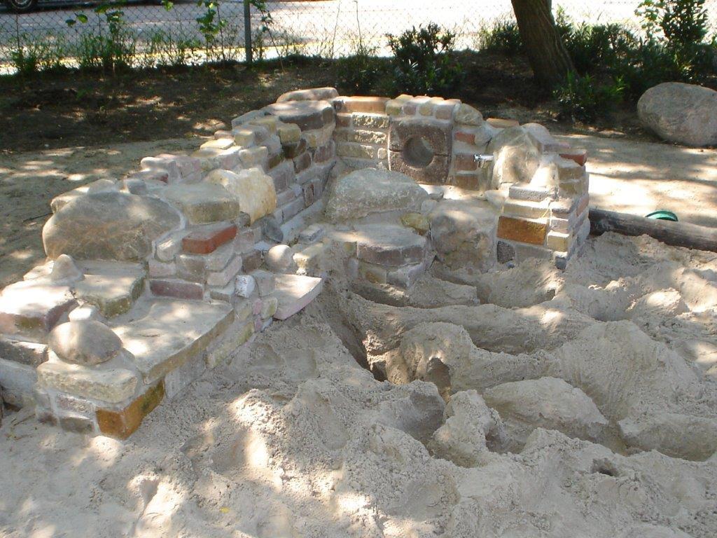speelmuur buroBlad zandbak