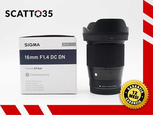 SIGMA 16mm F1.4 DC DN C (EOS M)