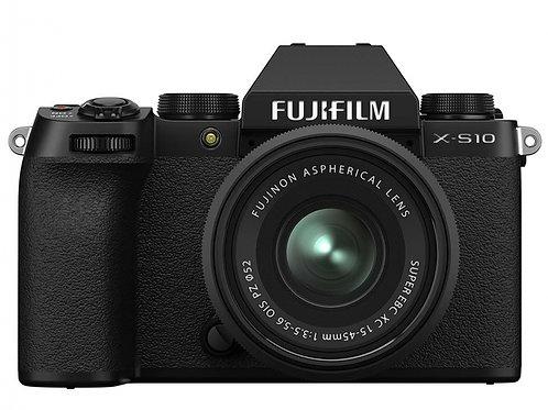 FUJIFILM X-S10 +15-45 F3.5-5.6 OIS PZ BLACK - FUJI ITALIA